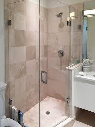 bathroom frameless shower doors near me half glass panel