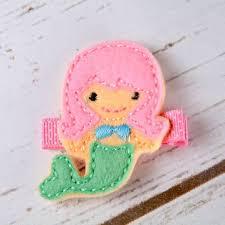 felt hair felt mermaid hair clip pink mermaid hair from bows and bags