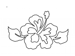 hibiscus flower coloring pages printable flower coloring pages