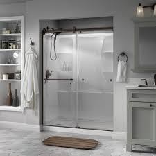 Delta Shower Doors Delta Portman 60 In X 71 In Semi Frameless Contemporary Sliding