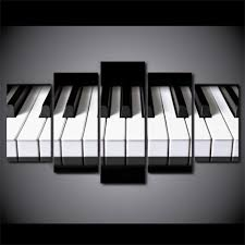music wall art piano keys picture on canvas ash wall decor