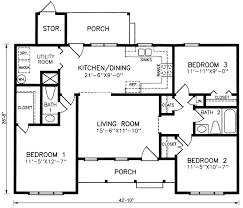 1 floor house plans small 3 bedroom 1 story house plans escortsea
