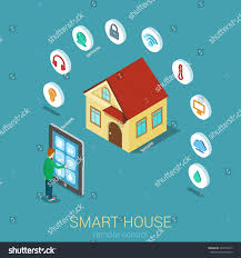smart house remote control flat 3d stock vector 264783377