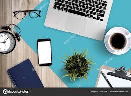 fourniture bureau entreprise fournitures bureau entreprise vue dessus ordinateur portable avec