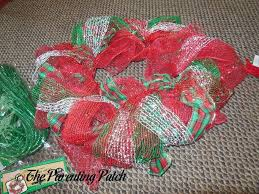 christmas mesh ribbon deco mesh ribbon and mesh christmas wreath craft parenting