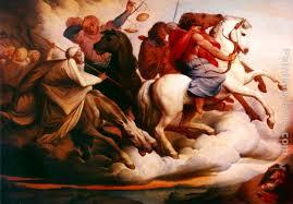 edward von steinle four horsemen of the apocalypse painting