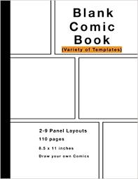 8 5 x 11 photo album blank comic book variety of templates 2 9 panel layouts 110