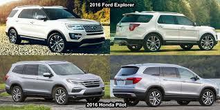 compare honda pilot and ford explorer benim otomobilim 2016 honda pilot vs 2016 ford explorer
