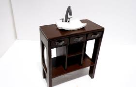How To Build A Bathroom Vanity by How To Make A Doll Bathroom Vanity Youtube
