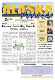 the alaska nurse vol 62 no 1 march 2013 by alaska nurses