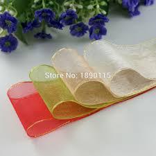 sheer organza ribbon aliexpress buy 2rolls lot 1 1 2 38mm sheer organza ribbons