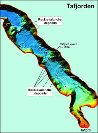 Map From Shaded Relief Map From Tafjorden Based On Swath Bathymetry The