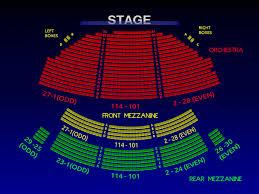 Winter Garden Seating Chart - bernard b jacobs theatre once broadway seating chart info