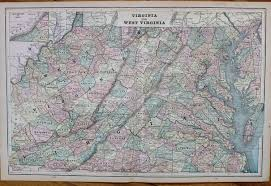 Virginia Map With Cities And Towns by Antique Maps And Charts U2013 Original Vintage Rare Historical