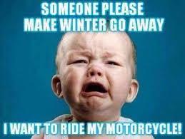 Go Away Meme - make winter go away hot leathers
