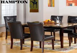 Urban Dining Room Table - urban styles 7 pc dinette w faux marble top