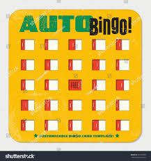 retro bingo card template sliding windows stock vector 393125500