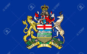 Canadian Provincial Flags Flag Of Alberta Is A Western Province Of Canada Stock Photo