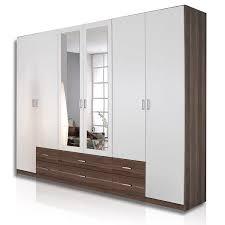 Roller Schlafzimmer Angebote Roller Roller Kleiderschrank Gamma Weiß Nussbaum Spiegel 270