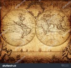 Vintage Map Vintage Map World 1733 Stock Photo 115649035 Shutterstock