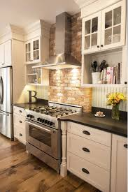 100 brick backsplash in kitchen custom kitchen design in
