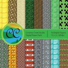 minecraft wrapping paper printable minecraft blocks free minecraft blocks and craft