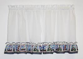 Lighthouse Window Curtains Nautical Theme Print Curtains Window Toppers