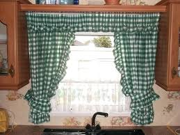 Green Checkered Curtains How To Make Kitchen Sink Curtains Window Above Curtain Ideas