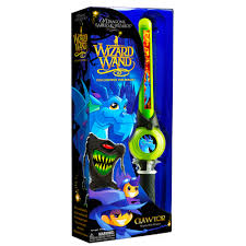 mighty wizard wand clawtor the mighty blue dragon green toys