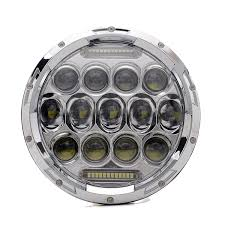 amazon com turbosii chrome 7 in round led headlight hi low beam