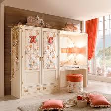 nice elegant design of the girls room with closet that has black