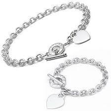 tiffany heart silver bracelet images Tiffany outlet heart tag toggle bracelet necklace set deals jpg