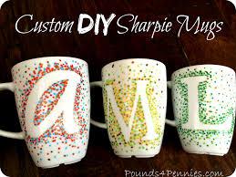 how to make custom sharpie mugs using a simple design diy