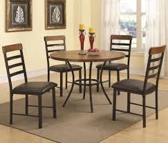coaster furniture 150164 5 pc dining table set coaster 150164 noah 5 piece black and tobacco finish dining table set main image