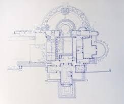 hollyhock house plan frank lloyd wright hollyhock house blueprint 18 99 via etsy