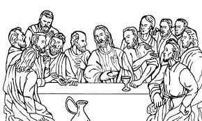 Jesus Christ With 12 Disciples Last Supper Coloring Page Last Supper Coloring Page