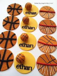 basketball cake toppers basketball cupcake toppers