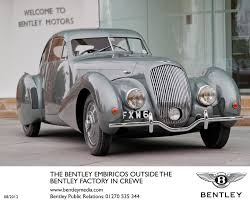 bentley crewe famous bentley 4 litre u0027embiricos u0027 special makes star appearance