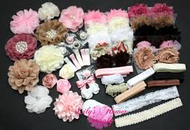 how to make baby hair bows baby shower headband kit deluxe diy hair bow kit baby shower