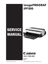 canon printer manuals canon ipf500 service manual printer computing menu