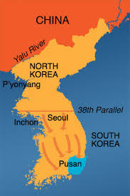 pusan on map korean war