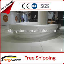 Global Reception Desk Fashionable 3d Global Solid Surface Artificial Marble Reception