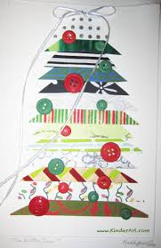 triangle button tree lesson plan christmas and holiday arts and