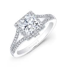 princess cut engagement rings white gold 18k white gold split shank princess cut halo diamo
