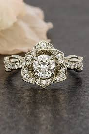 Flower Wedding Ring by Flower Engagement Rings For Feminine Bridal Look Oh So Perfect