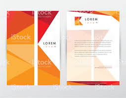 brochure cover and letterhead template design stationery with