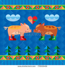 ornamental pig stock images royalty free images vectors