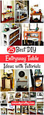 25 best diy entryway table ideas with tutorials diy u0026 crafts