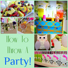 how to throw a party diy inspired