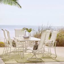 Hampton Bay Patio Dining Set - hampton bay statesville pewter 7 piece aluminum outdoor dining set